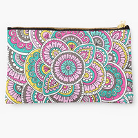 'Colorful Sunrise' Studio Pouch by Sarah Oelerich