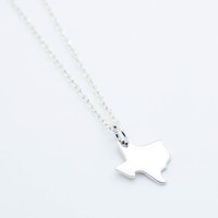 Texas sterling silver necklace