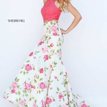 Beaded Mermaid Gown by Sherri Hill