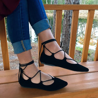 Just Dance Flats - Black