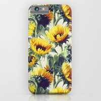 Sunflowers Forever iPhone & iPod Case by Micklyn