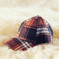The Fireside Plaid Hat in Rust