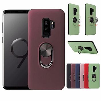 For Samsung Galaxy S10 5G S9 S8 Note 8 9 10 Plus S20 Ultra A51 A71 A30 A50S A70 J4 J6 A7 A9 2018 Car Magnetic Ring Holder Case