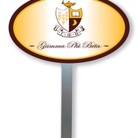 Gamma Phi Beta Oval Yard Sign