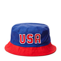 Colorblocked USA Bucket Hat