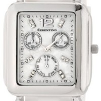 Cerentino Women's RB001 Rectangle White Dial Interchangeable Set Silicone Multi-Colored Strap Watch