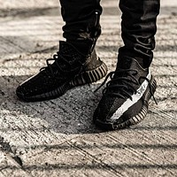 adidas yeezy boost 350 V2 Core Black / Core White-Core Black - Best Deal Online