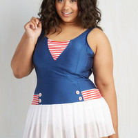 Fables by Barrie Nautical All Adored! One-Piece Swimsuit in Plus