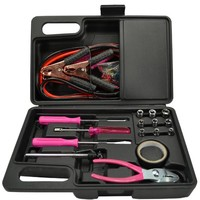 Auto Emergency Jumper Cable Kit in Pink 35 Piece Set