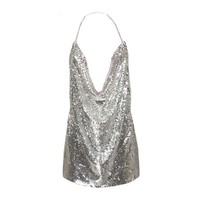 SEXY BACKLESS SEQUIN MINI DRESS