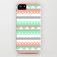 Coral and mint iPhone Case by Raffles Bizarre   Society6