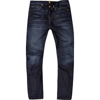 River Island MensDark wash Curtis slouch jeans