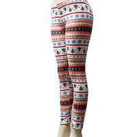 Christmas Fleece Leggings!  Multi Color.  One Size.