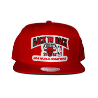1991 1992 Chicago Bulls Back 2 Back NBA Champions Snapback Hat