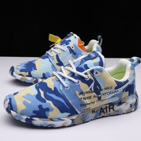 Best Deal Online OFF-White X Nike Air Roshe One Camo Blue Running Shoes