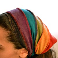 Layla Striped Headband Rainbow on Sale for $7.99 at The Hippie Shop