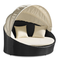 Colva Outdoor Canopy Bed at Brookstone—Buy Now!
