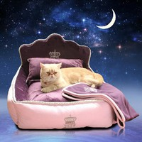 New high quality Luxury noble Princess Pet Bed Dog Bed Cat Mat Sofa Dog House Pet Nest Sleep Cushion Cat Kennel Free Shipping
