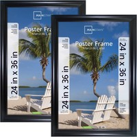 Mainstays 24x36 Wide Black Poster and Picture Frame, Set of 2 - Walmart.com