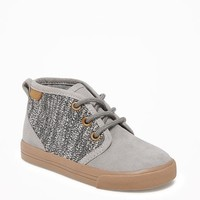 Mixed-Fabric Mid-Top Sneakers for Toddler Boys   Old Navy