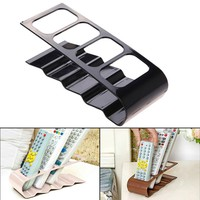 Practical Home Storage Holder Rack 4 Section Home Appliance Remote Control Stand Holder Portable Orgnizing Shelf