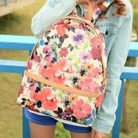 Printed Floral Backpack A