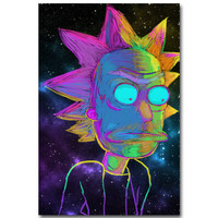Vibrant Rick and Morty Poster