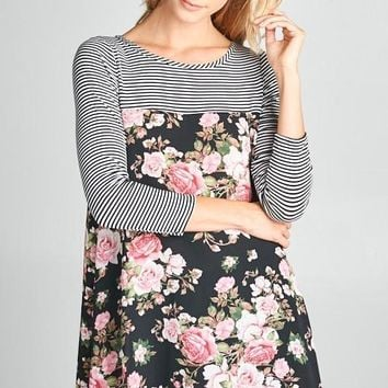 Floral Printed Tunic Top