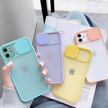 Camera Lens Protection Phone Case on For iPhone 11 Pro Max 8 7 6 6s Plus Xr XsMax X Xs SE 2020 Color Candy Soft Back Cover Gift|Fitted Cases