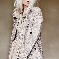Free People Womens Textures in Plaid Jacket