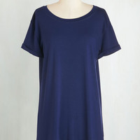 Long Short Sleeves Simplicity on a Saturday Tunic in Navy