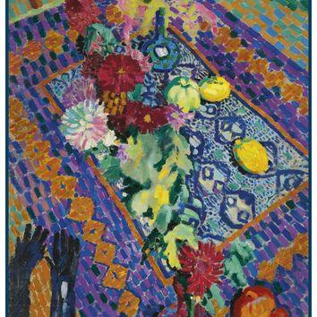 Still Life with Gloves by Artist Robert Delaunay Counted Cross Stitch Pattern