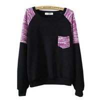 Gorgeous Hoodies Sweatshirts Pullovers Knitted - Sleeve & Pocket Black Color