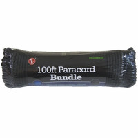 Black Paracord 100' x 5/32'' 7-Strand 550 lbs. Rated