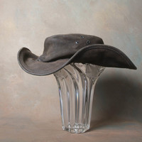 A Genuine Jackaroo Suede Leather Outback Hat from Australia