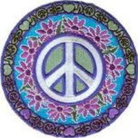Peace Flower Child Iron On Patch