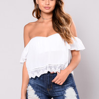 Gold Skies Top - White