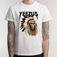 Kanye West Yeezus White Men Clothing High Quality tee S,M,L and XL (Y8)