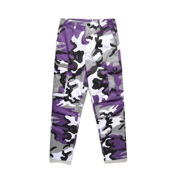 Camouflage Violet Cargo Pants