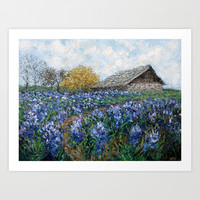 Coates' Barn Art Print by Ann Marie Coolick