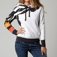 Fox Racing Craze Womens Pullover Sweatshirt White | Fox Racing Womens Sweatshirts at Bob's Cycle Supply | Bob's Cycle Supply