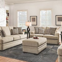 Cornell Platinum Sofa & Loveseat by American Furniture