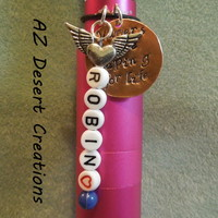 Name and Hand Stamped MOD Charm Customization All the Way Handmade  | DesertCreations - Accessories on ArtFire