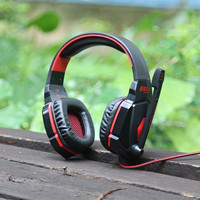 Gaming Headset Stereo Sound 2.2M Wired Headphone Noise Reduction with Microphone for Computers iPhone iPod Smartphone Tablet PC = 1845693764