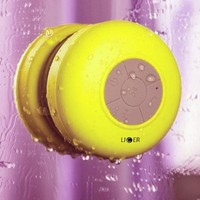 Waterproof Shower Speaker, Liger Waterproof Wireless Bluetooth Shower Speaker & Hands-free Speakerphone - Exclusive LED Light Effects, Micro USB Charger And Crystal Clear Sound, Bluetooth Compatible