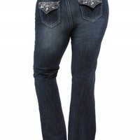 ZCO FLARE GEO BACK FLAP JEANS