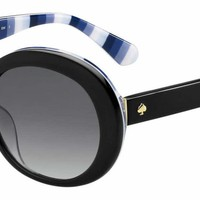 Kate Spade - Cindra S Black Sunglasses / Dark Gray Gradient Lenses