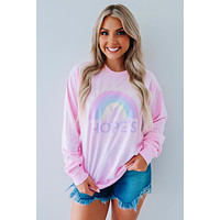 Hope's Rainbow Long Sleeve Tee: Blossom/Multi