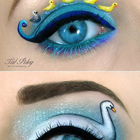 Lovely Miniature Paintings on the Eyelids as A Canvass
