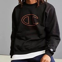 Champion Fashion Casual Logo Print Hooded Top Sweater Pullover